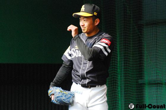 ソフトバンク・嘉弥真新也【写真:荒川祐史】