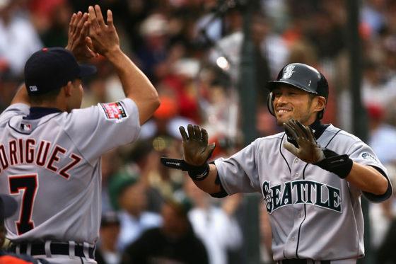 2007年のオールスターでランニング本塁打を放ったイチロー【写真:Getty Images】
