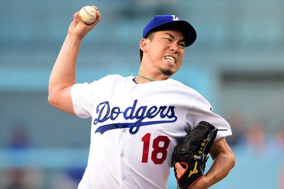 今季7勝目を挙げたドジャース・前田健太【写真:Getty Images】