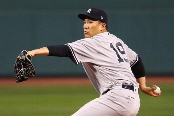 今季最多タイ112球と力投した田中将大【写真:Getty Images】