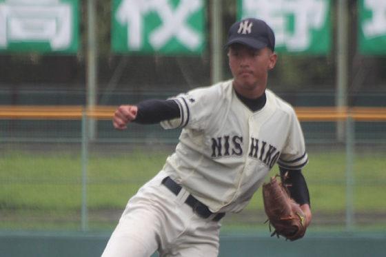第99回高校野球選手権兵庫大会3回戦で、長田を10-3の8回コールドで破った市西宮【写真:沢井史】