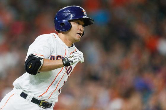 適時二塁打を放ったアストロズ・青木宣親【写真:Getty Images】