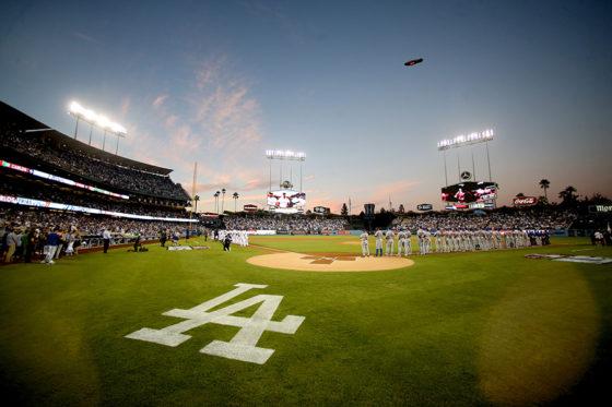 ドジャース本拠地である「ドジャースタジアム」【写真:Getty Images】