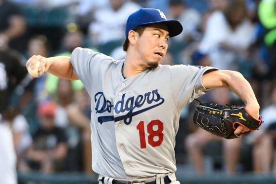 今季日本人最多となる8勝目を挙げたドジャース・前田健太【写真:Getty Images】