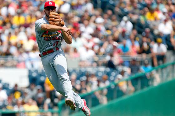 強肩ぶりを見せつけたカージナルスのポール・デヨング【写真:Getty Images】