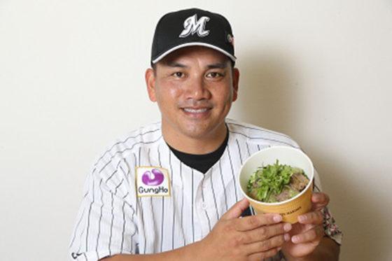 ロッテ・井口資仁がプロデュースした「シャキシャキわさびのステーキ丼」【写真提供:千葉ロッテマリーンズ】