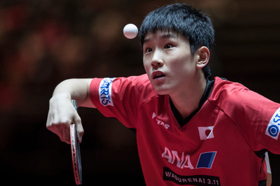 楽天の主催試合で始球式を行うことに決まった卓球の張本智和【写真:Getty Images】
