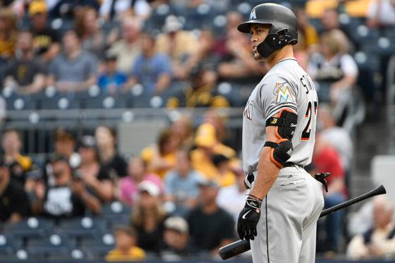 ヤンキースへの移籍が決まったスタントン【写真:Getty Images】