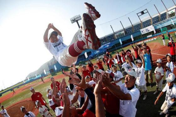 武蔵府中リーグが稲城リーグを下し大会2連覇を果たした【写真:(C)MLBジャパン】