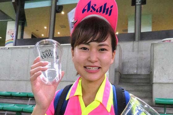 アサヒビールの「HAZUKI」さん【写真:福谷佑介】