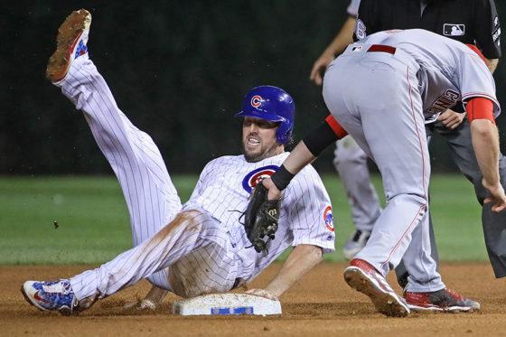 キャリア初となる盗塁を成功させたカブスのジョン・ラッキー【写真:Getty Images】