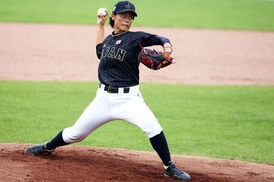 2016年WBSC女子野球ワールドカップ日本代表・里綾実【写真:Getty Images】