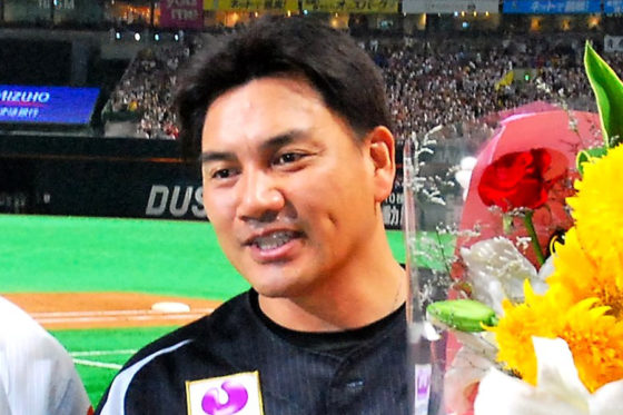 今季限りでの現役引退を発表しているロッテ・井口資仁【写真:藤浦一都】
