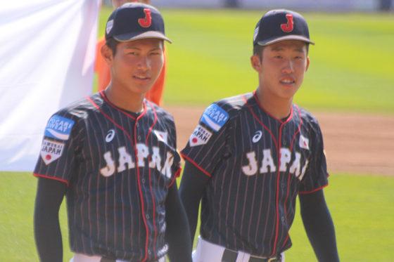 侍U-18代表で活躍した藤原恭大(左)と小園海斗【写真:沢井史】