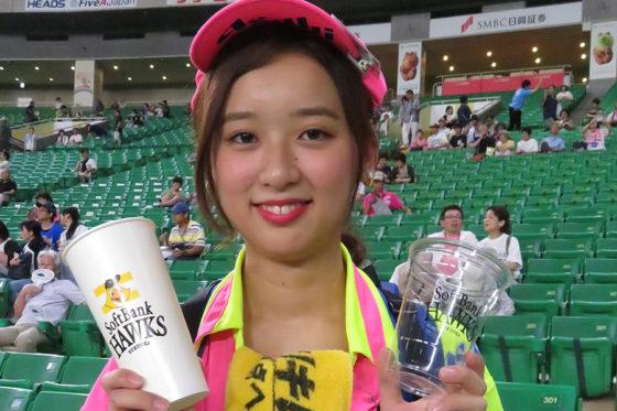 アサヒビールの「ゆりこ」さん【写真:福谷佑介】
