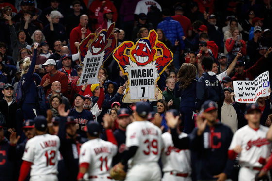 インディアンスは快進撃でリーグ最高勝率を記録【写真:Getty Images】
