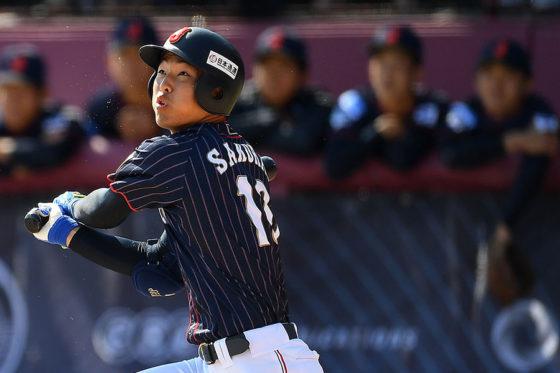 U-18野球ワールドカップでは打者としても活躍した櫻井周斗【写真:Getty Images】