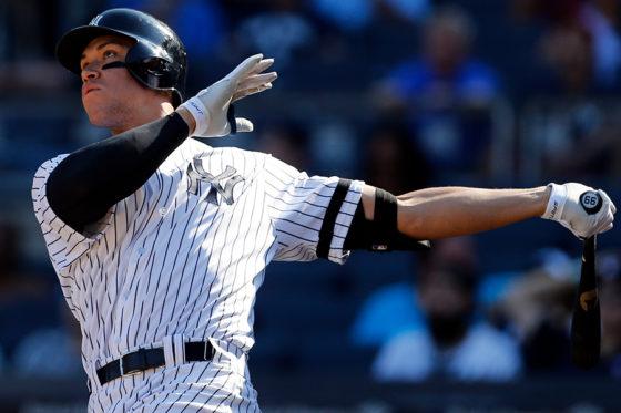 50号本塁打を放つヤンキースのアーロン・ジャッジ【写真:Getty Images】