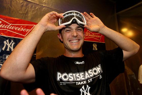 シャンパンファイトで喜びに浸ったヤンキース・ロバートソン【写真:Getty Images】