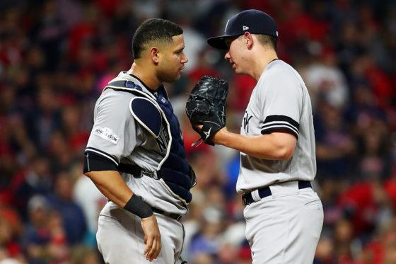 満塁弾を浴びたグリーンとサンチェスのヤンキースバッテリー【写真:Getty Images】