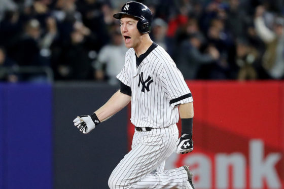 先制3ランを放ったヤンキースのトッド・フレージャー【写真:Getty Images】