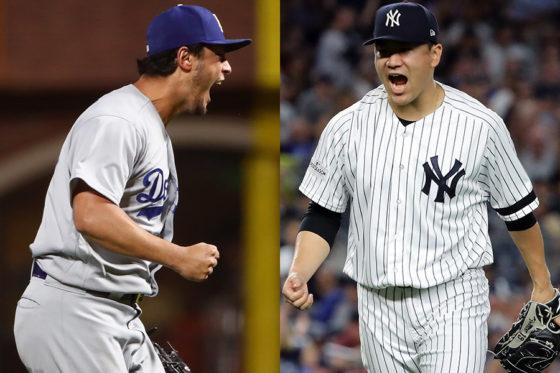 ドジャース・ダルビッシュ有(左)とヤンキース・田中将大(右)【写真:Getty Images】