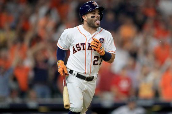 2試合連続となる本塁打を放ったアストロズのホセ・アルトゥーベ【写真:Getty Images】