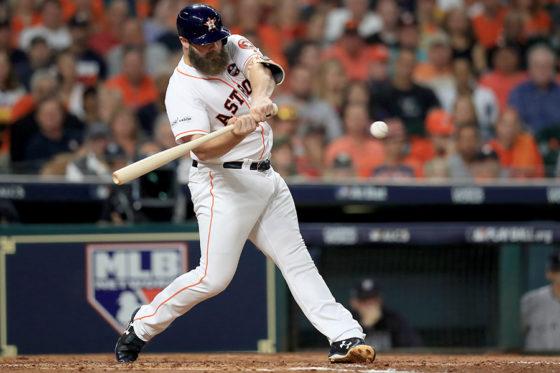 先制となる本塁打を放ったアストロズ・ギャティス【写真:Getty Images】