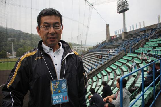 BCリーグの村山哲二代表取締役【写真:広尾晃】