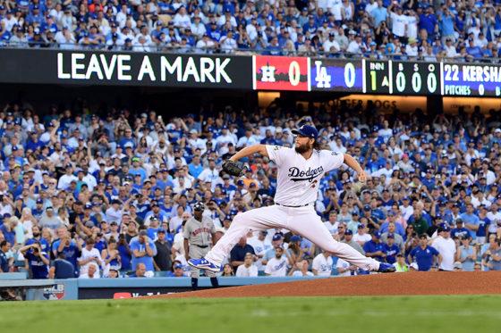 7回11奪三振の好投をみせたドジャース・カーショ―【写真:Getty Images】