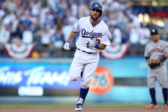 先制本塁打を放ったドジャース・テイラー【写真:Getty Images】