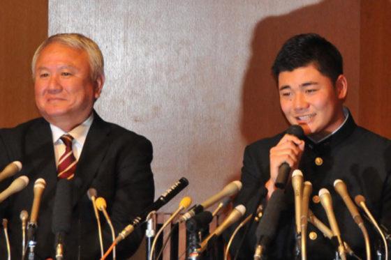 日本ハムが交渉権を獲得した清宮幸太郎【写真:篠崎有理枝】