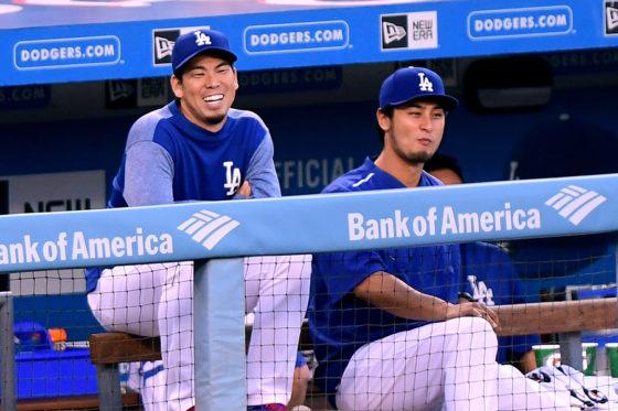 ドジャース・前田健太(左)とダルビッシュ有(右)【写真:Getty Images】