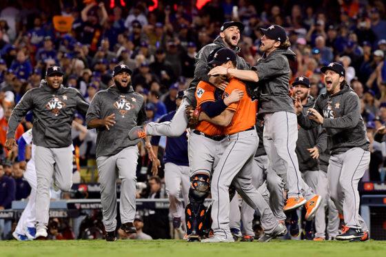 2017年、MLBの頂点に輝いたアストロズ【写真:Getty Images】