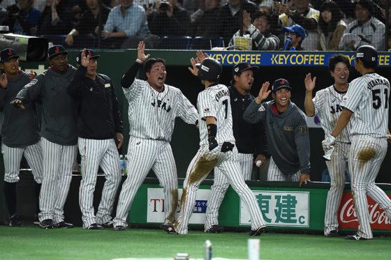 打線が繋がった侍ジャパンは、韓国相手に完勝で大会優勝を決めた【写真:Getty Images】