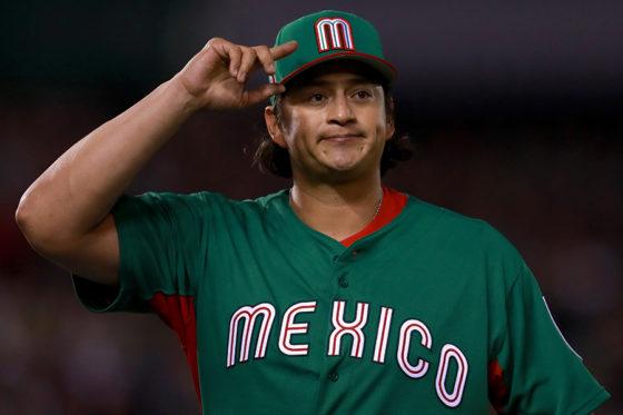 2017年WBCではメキシコ代表として出場したメンドーサ【写真:Getty Images】