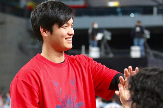 日本ハム・大谷翔平がファンフェスティバルで意外な特技を披露した【写真:石川加奈子】