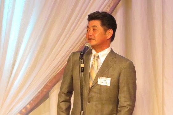 球団納会「ファミリーパーティー」に出席した工藤監督【写真:福谷佑介】