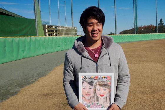 婚姻届けを提出したことを発表した西武・多和田【写真:上岡真里江】