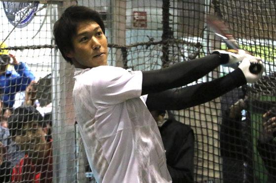 「Red Bull Batting Mania Japan Final」に参加したヤクルト・山田哲人【写真:編集部】