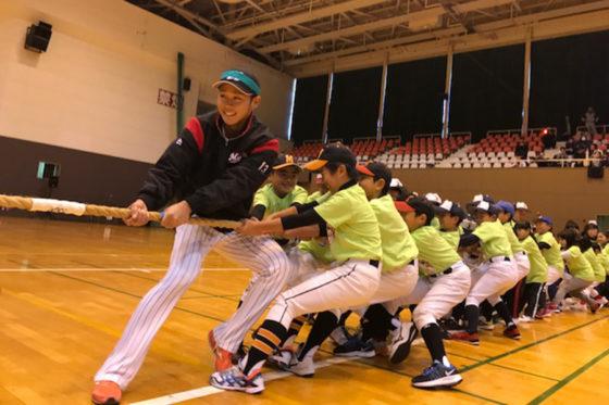 「ベースボールフェスタin福島」に参加したロッテ・平沢大河【写真提供:千葉ロッテマリーンズ】