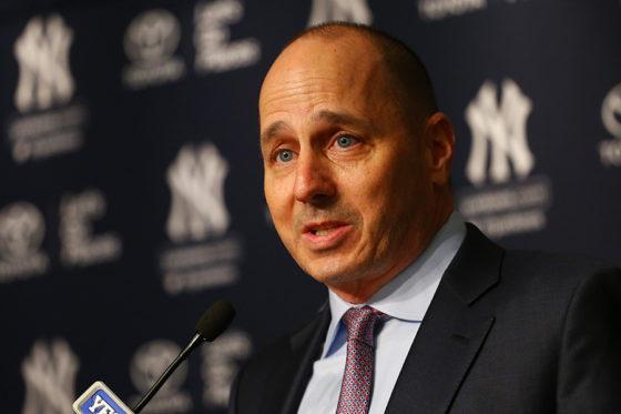 ヤンキースと新たに5年延長の契約を結んだブライアン・キャッシュマンGM【写真:Getty Images】