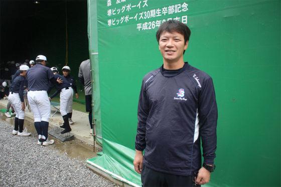 現在は堺ビッグボーイズのコーチを務める阪長友仁氏【写真:広尾晃】