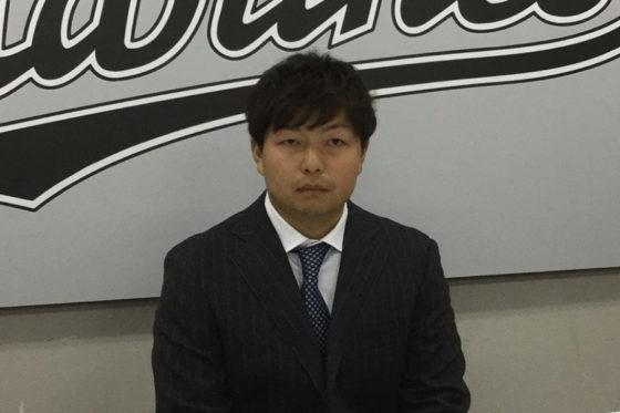 契約更改に臨んだロッテ・松永昂大【写真:細野能功】