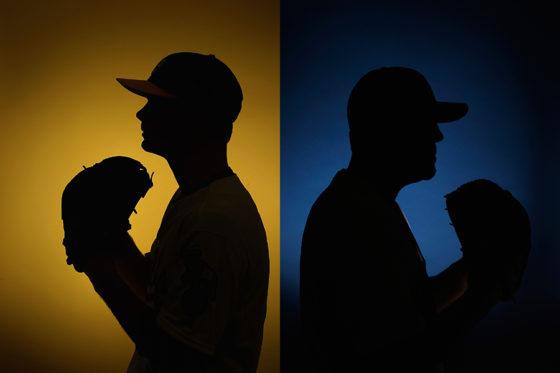 右腕か左腕か…どちらにも見える投手のシルエット壁画が話題に【写真:Getty Images】