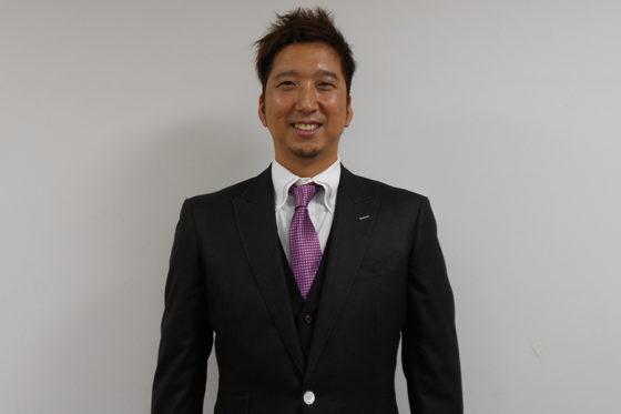 インタビューに応じた阪神・藤川球児【写真:佐藤直子】