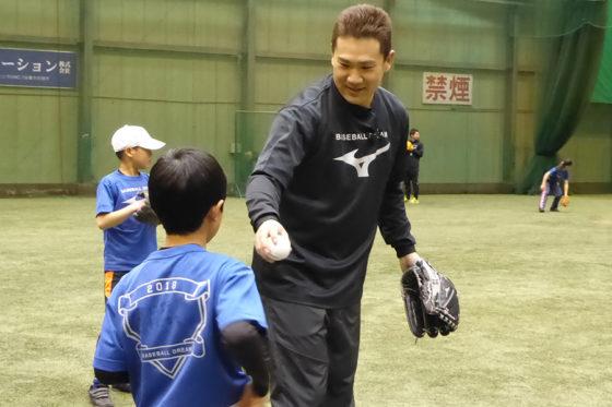 ミズノ主催の野球教室で子どもたちと触れ合ったヤンキース・田中将大【写真:編集部】