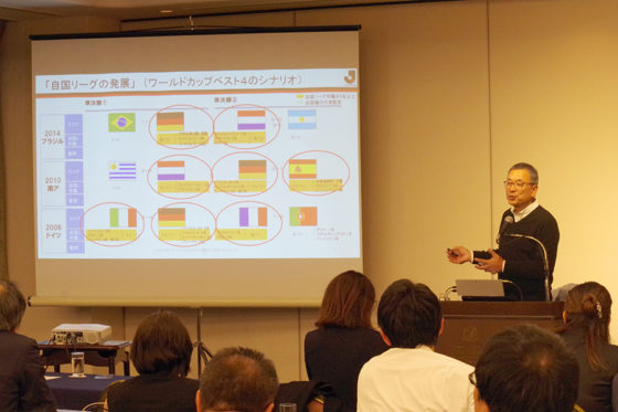 Jリーグチェアマン・村井満氏を講師に迎え行われた「パ・リーグ ビジネススクール(PBS)」【写真:(C)PLM】