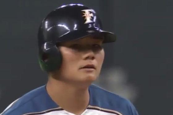 二塁打を放った日本ハム・清宮【写真:(c)PLM】