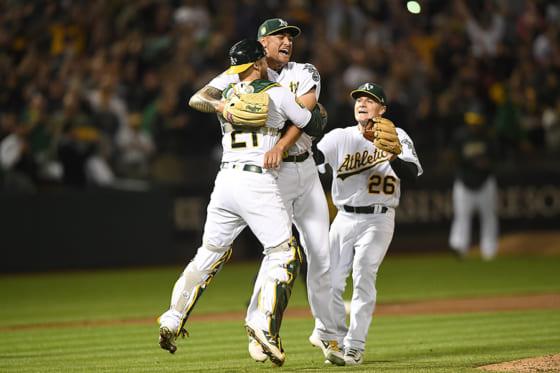 強打のレッドソックス相手に快投を披露したアスレチックスのショーン・マナイア【写真:Getty Images】